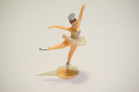 Ivory Plastic Ballet Dancing Girl for Cupcakes and Cakes Decoration (144 pcs)