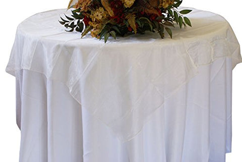Ivory Organza Table Overlay 80 X 80 Square(1 Piece)