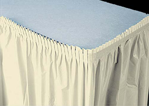 Ivory Plastic Table Skirt (1 Piece)