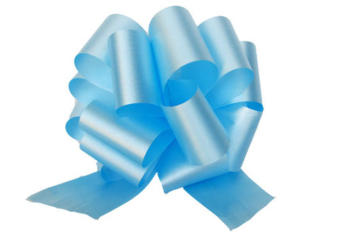 Large Light Blue Pull Bow (10 Pieces)