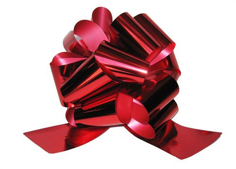 Large Metallic Red Pull Bow (10 Pieces)