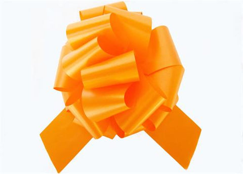 Large Orange Pull Bow (10 Pieces)
