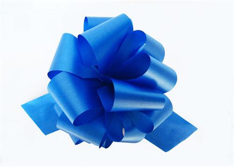 Large Royal Blue Pull bow (10 Piece)