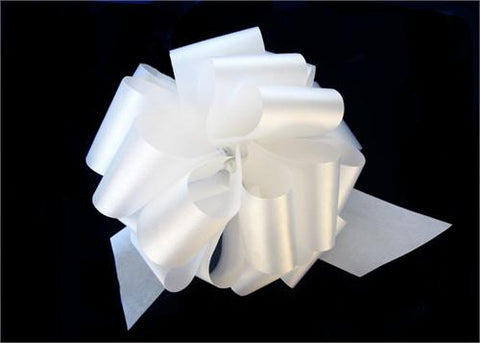 Large White Pull Bow (10 Pieces)