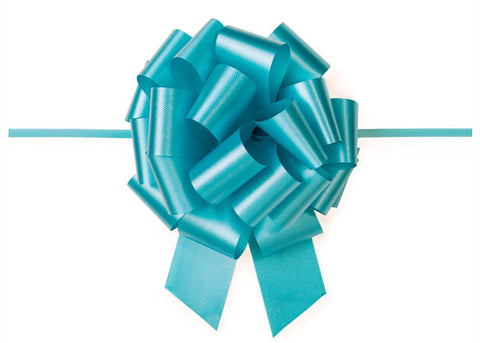 Large Turquoise Pull Bow (10 Pieces)