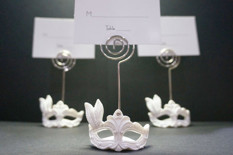 Masquerade Masked Theme Place Card Holder (12 Pieces)