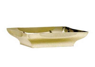 Metallic Gold Plastic Centerpiece Tray (1 Piece)