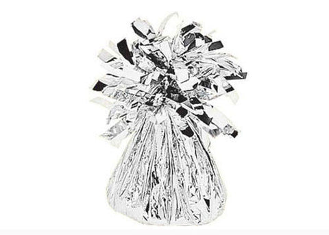 Metalic Silver Foil Balloon Weights (1 Piece)
