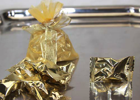 Metallic Gold Butter Mints (50 pieces)