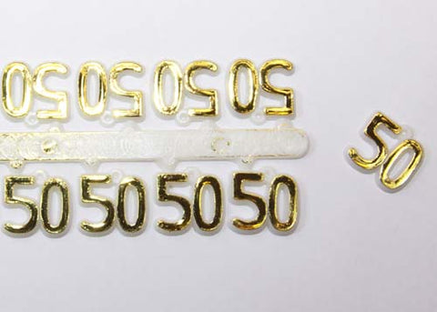 Miniature Number 50 Gold (144 pieces)