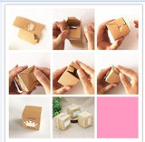 "2"" Cube Paper Favor Box with Pink Crown-50 Pieces"