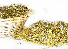 Metallic Gold Shredded Grass ( 8 oz. Bag )