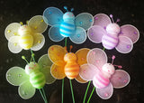 Nylon Bumble Bee Decoration With Stick (24 assorted pieces)