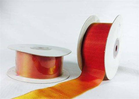 "1-1/2"" Two-Toned Silky Ribbon Golden Coral (25 Yards)"