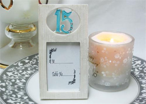 15 Turquoise White Picture Frame (12 Pieces)