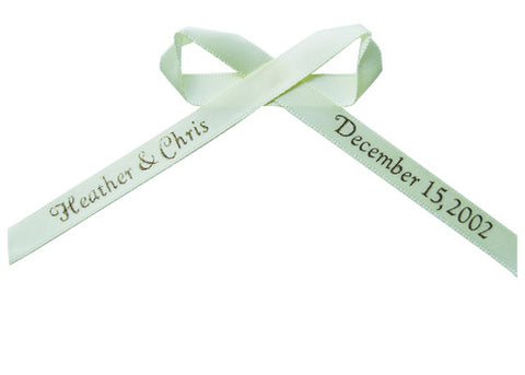 Plain Edge Personalized Ribbon