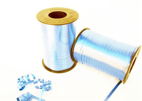Pastel Blue Curly Ribbon 5mm X 500 Yards (1 Roll)