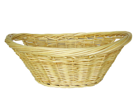 "14"" Natural Color Oval Wicker Basket (1 Piece)"