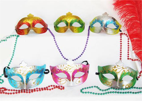Mardi Gras Venetian Mask (12 assorted pieces)