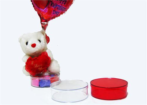 "4.5"" Round Favor Box with Lid - 12 Pieces