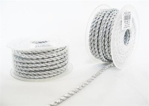 5.5MM X 10Yards Twisted Cord Metalic Silver