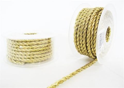 5.5MM X 10Yards Twisted Cord Metalic Gold