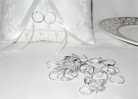 Plastic Sliver Ring (144 Pieces)