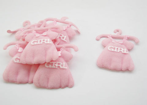 Baby Shower Decoration Cotton Baby Dress Pink (12 pieces)