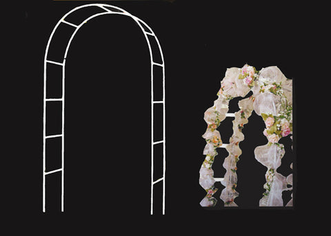 White Metal Arch (1 piece)