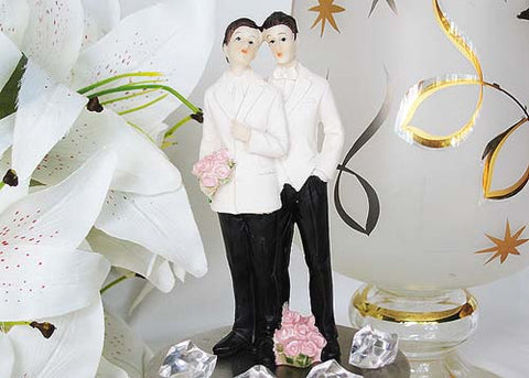 5 Poly Resin Wedding Cake Topper Gay  Couple (1 Pieces)