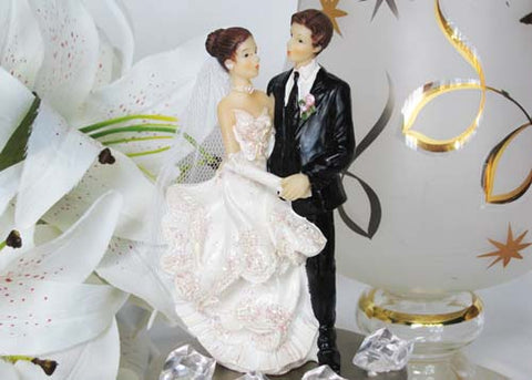5 Poly Resin Wedding Cake Topper Couple (12 Pieces)