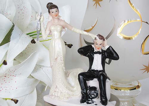 5 Poly Resin Wedding Cake Topper Funny Couple (1 Piece)