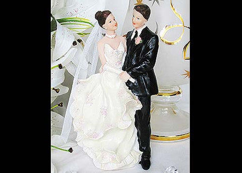 9 Poly Resin Wedding Cake Topper Couple (1 Piece)