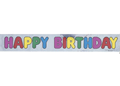 12ft Happy Bithday Banner (1 Piece)