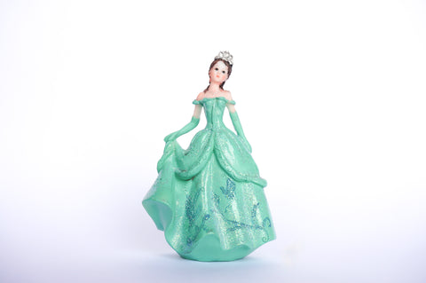 Poly Resin Quinceañera Sweet 16 Figurine Cake Topper Aqua (12 pieces)