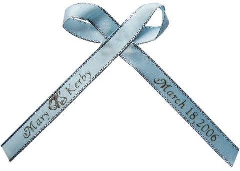 Silver Edge Personalized Ribbon
