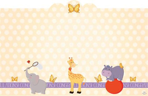 "3.5"" X 2.25""  Safari Parade Design Small Cards (50 Pieces)"