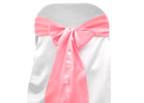 "6"" X 108"" Satin Chair Bow Pink(12 Pieces)"
