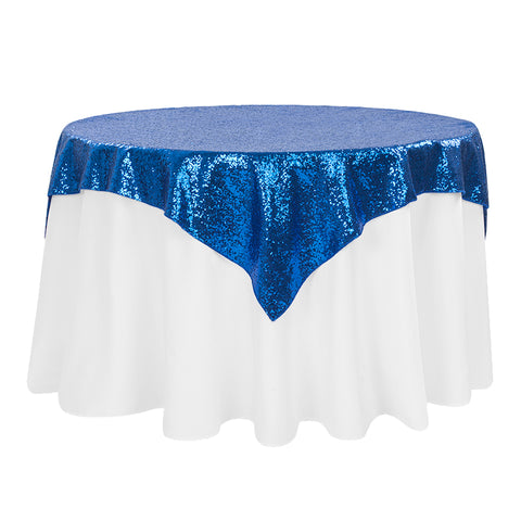 "Sequin Overlay 72"" X 72"" Square Royal Blue"