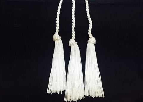 Tassel With Chord White (12 Pieces)