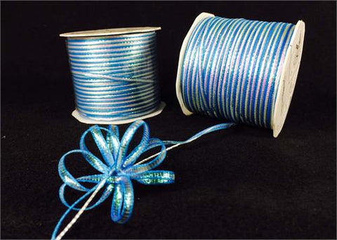Iridescent Turquoise 4MM Pull Bow Ribbon 100 Yard