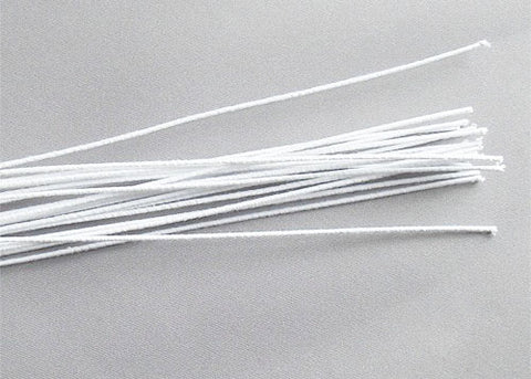 "18"" White Cloth Stem Wire (24 Pieces)"