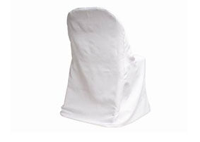 White Folding Chair Cover-Flat (1 Piece)