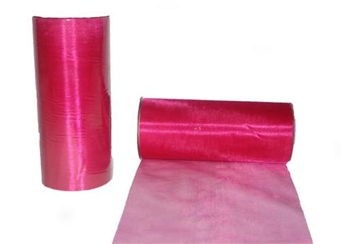 6 x 25 Yards Wide Organza Ribbon Fuchsia