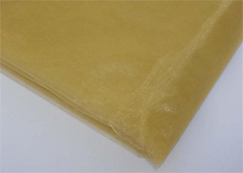 Antique Gold Sheer Organza Sheet With Sewn Edge 58 x 10yds