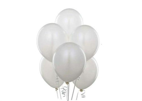 "12"" Pearl Tone White Balloon (72 Pieces)"