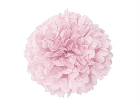16'' Puff Tissue Paper Balls - Light Pink 1 Piece