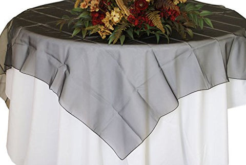 Black Organza Table Overlay 80 X 80 Square(1 Piece)
