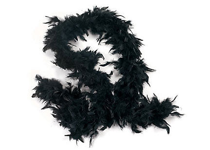6' Feather Boa Black