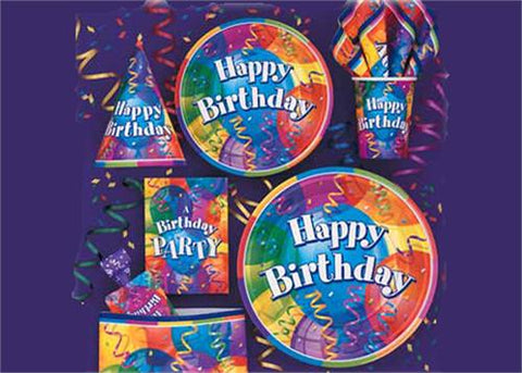 "Brilliant Birthday Party Supply| Item| 10"" square Small Napkin (16 Pieces)"
